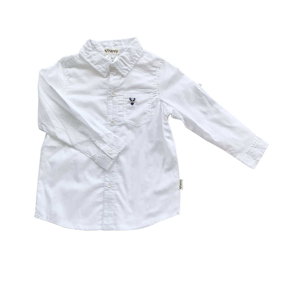BOYS DRESS SHIRT - WHITE