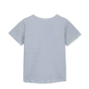 Load image into Gallery viewer, Milky -Blue Stripe Tee