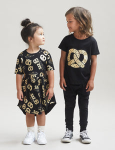 Huxbaby - UFO Pretzel Swirl Dress - Black/Gold
