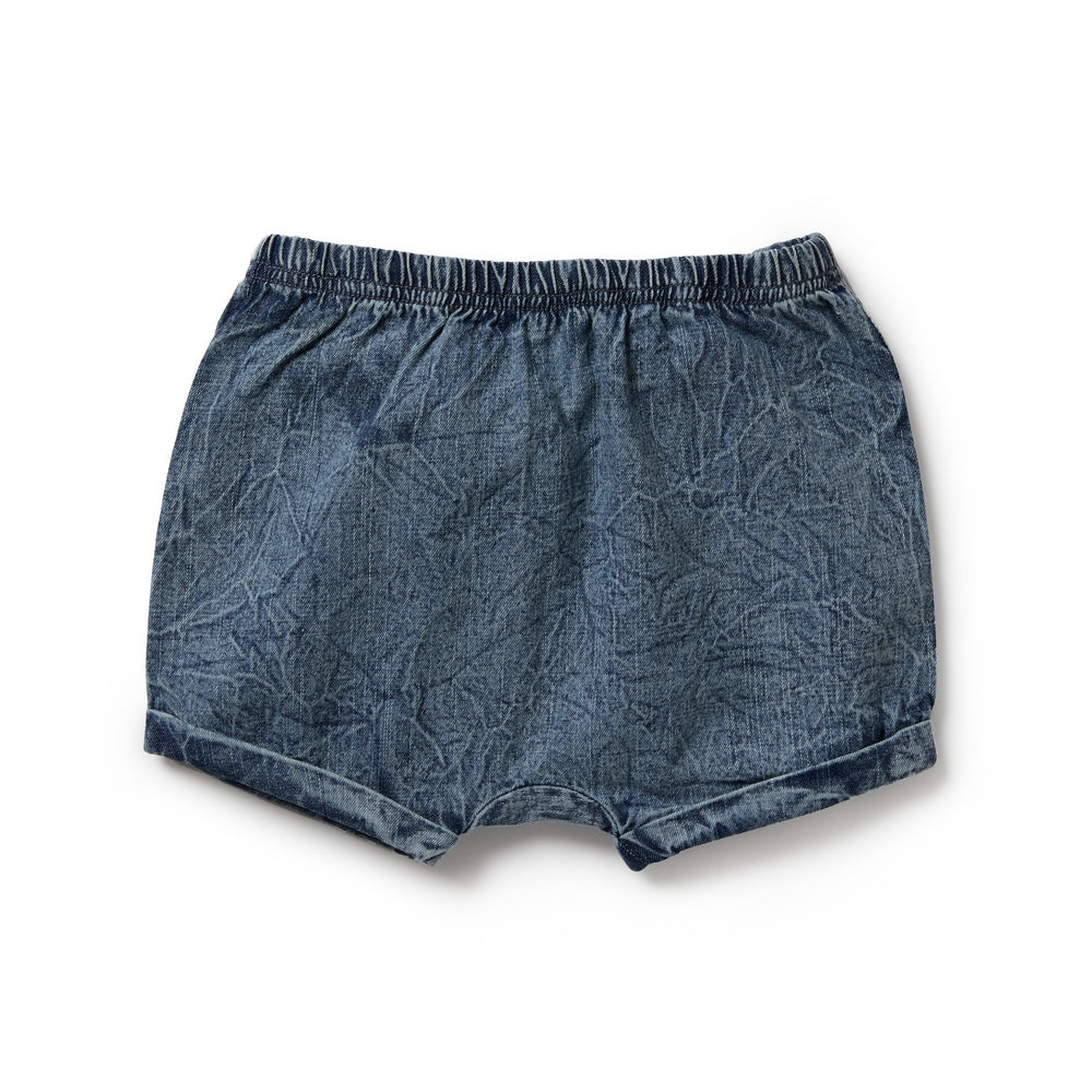 ROLLED SHORTS - DENIM