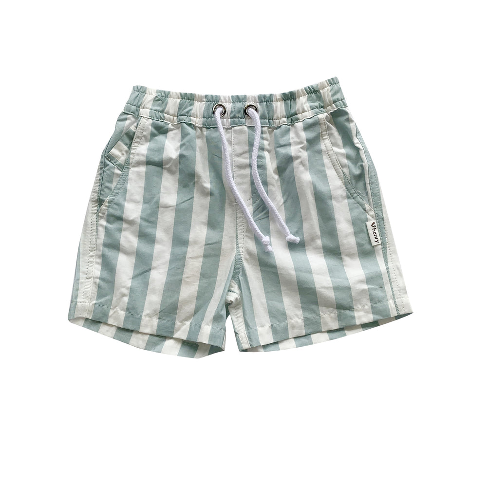 BOYS SONNY SHORTS - TURQUOISE / WHITE STRIPE