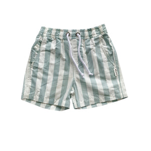 Load image into Gallery viewer, BOYS SONNY SHORTS - TURQUOISE / WHITE STRIPE