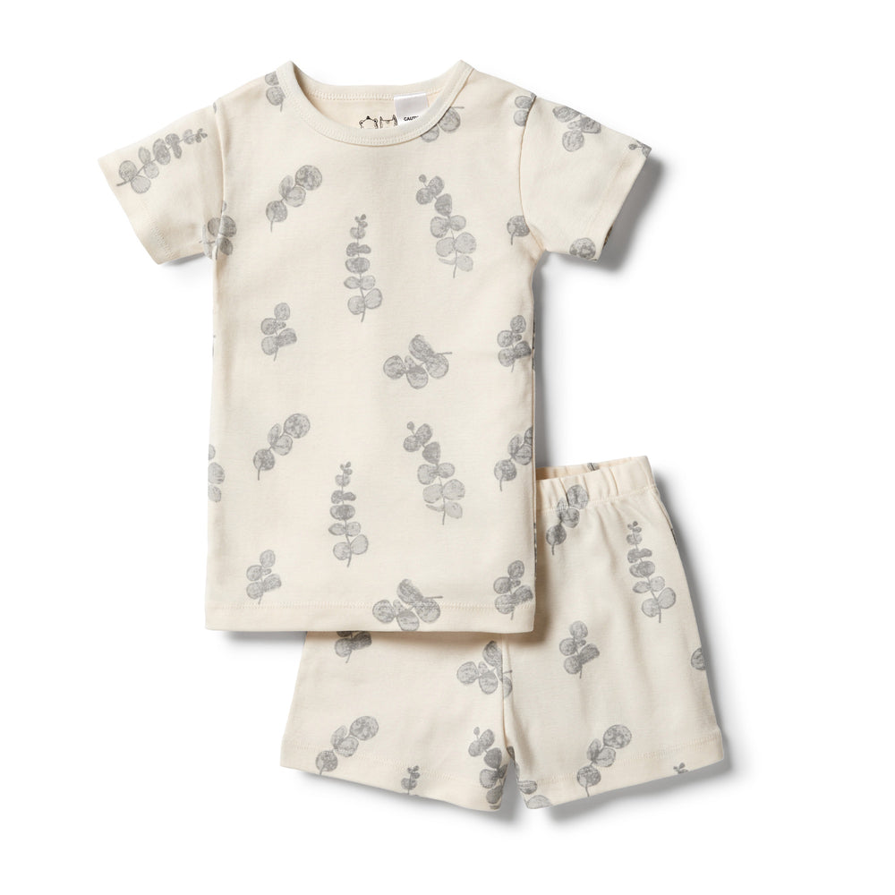 ORGANIC SHORT SLEEVE PYJAMAS - LITTLE EUCALYPTUS