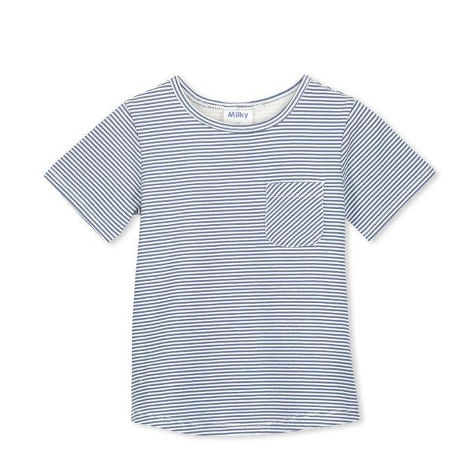 Milky -Blue Stripe Tee
