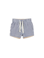 REVERSIBLE CHINO SHORT - REVERSIBLE NAVY + MUSTARD STRIPE