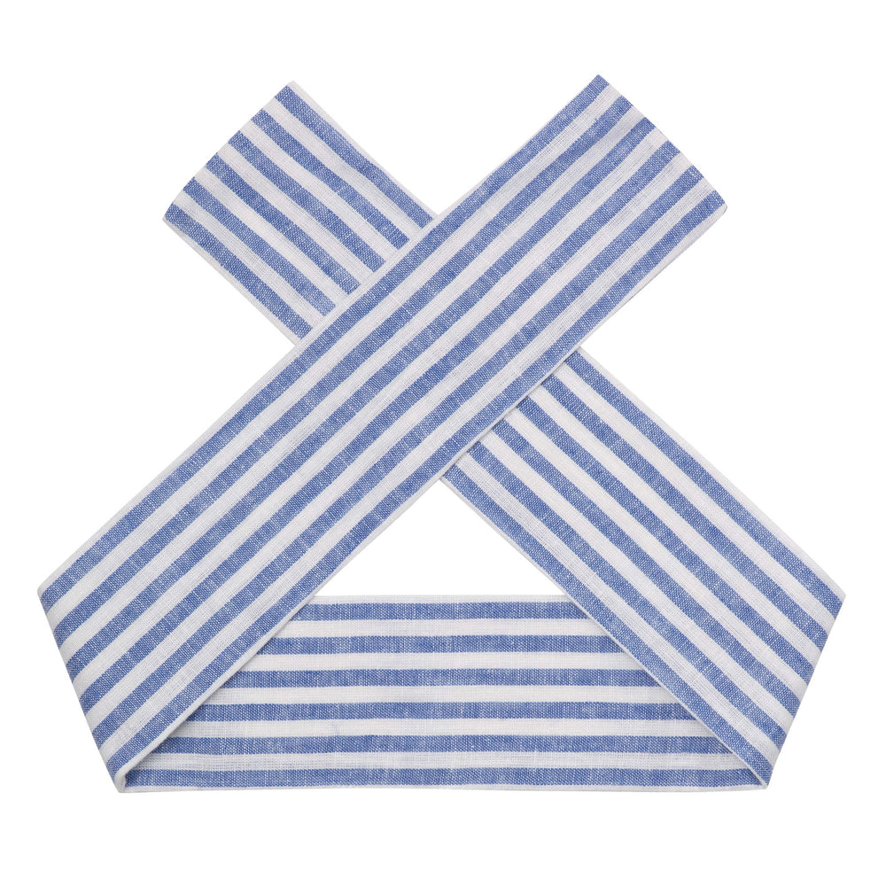 Load image into Gallery viewer, LINEN HEADBAND - SEASIDE STRIPE