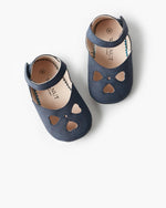 Walnut Melbourne - Iris Heart Sandal - Navy