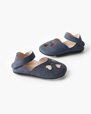 Load image into Gallery viewer, Walnut Melbourne - Iris Heart Sandal - Navy