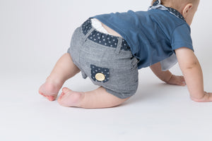 Love Henry - Baby Boys Oscar Shorts - Charcoal