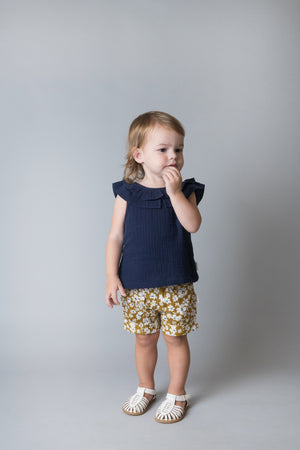 BABY GIRLS POLLY TOP - NAVY