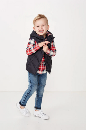 Load image into Gallery viewer, PUFFER VEST - NAVY