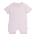 SHORT SLEEVE ZIPSUIT - PINK STRIPES