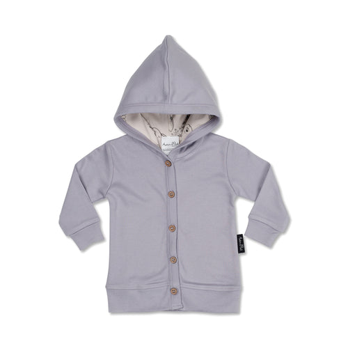 HOODED CARDIGAN - LAVENDER
