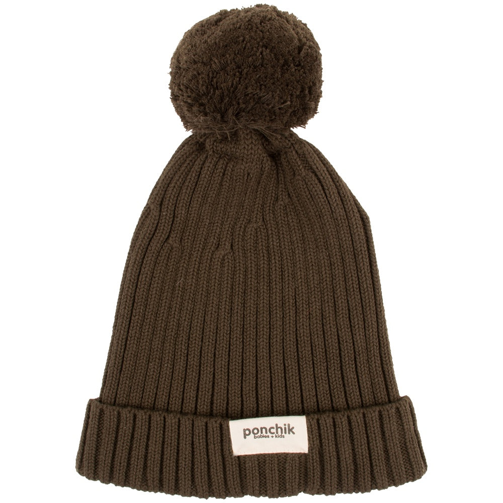 RIBBED BEANIE - MOSS GREEN