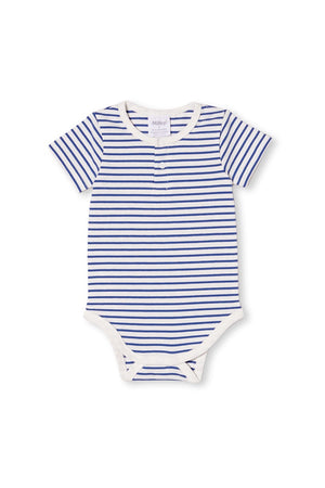 STRIPE BUBBYSUIT - MARINA BLUE/WHITE