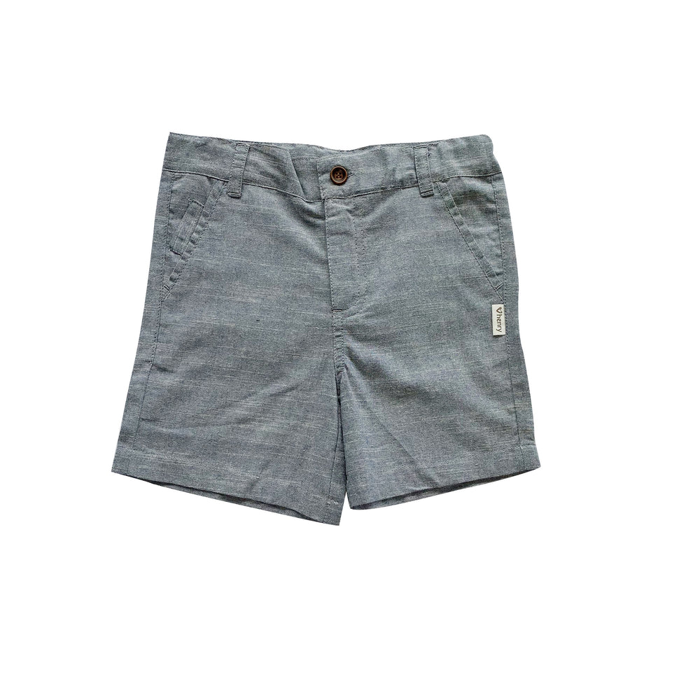 BOYS DRESS  SHORTS - DARK CHAMBRAY