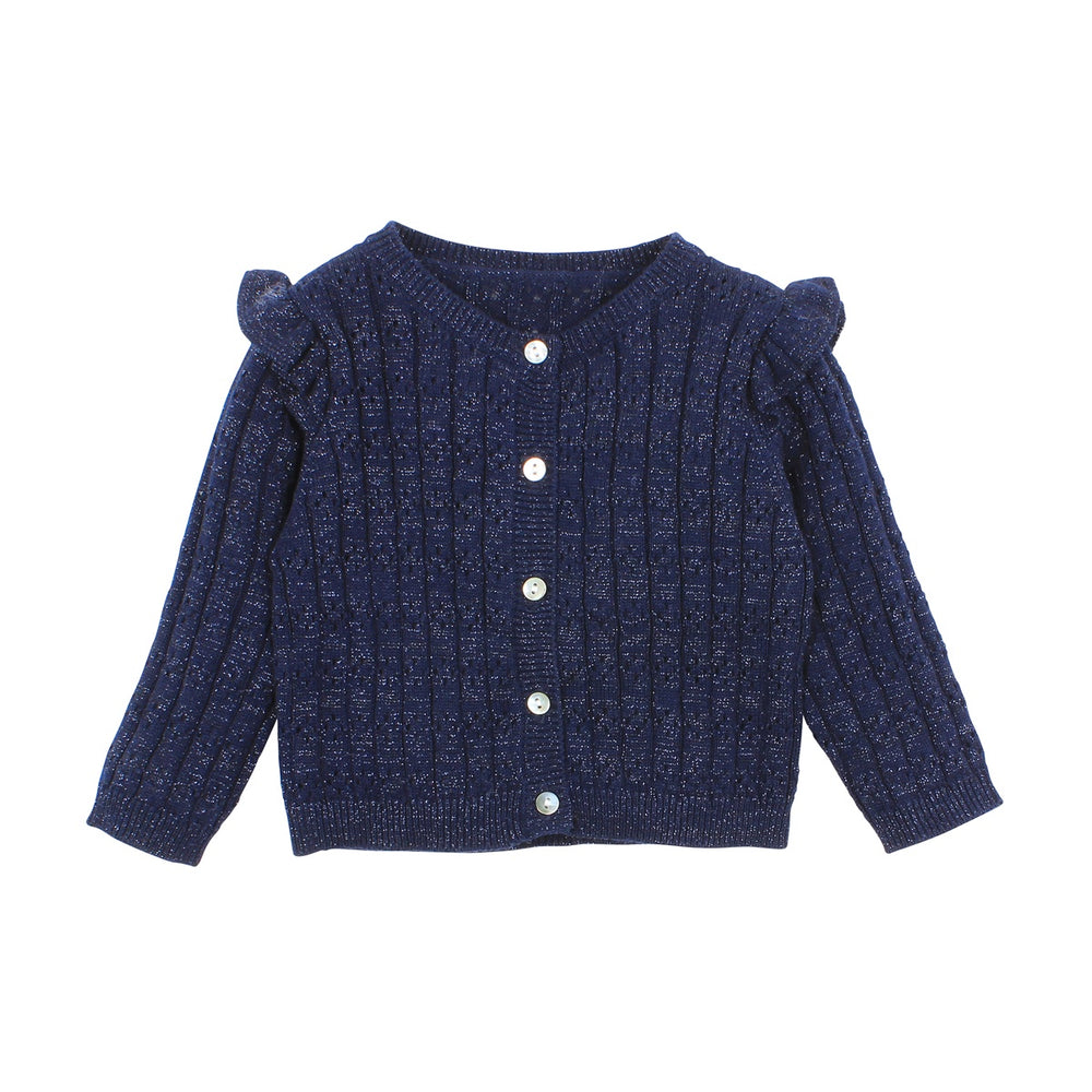 Load image into Gallery viewer, WILDFLOWER CARDIGAN - NAVY