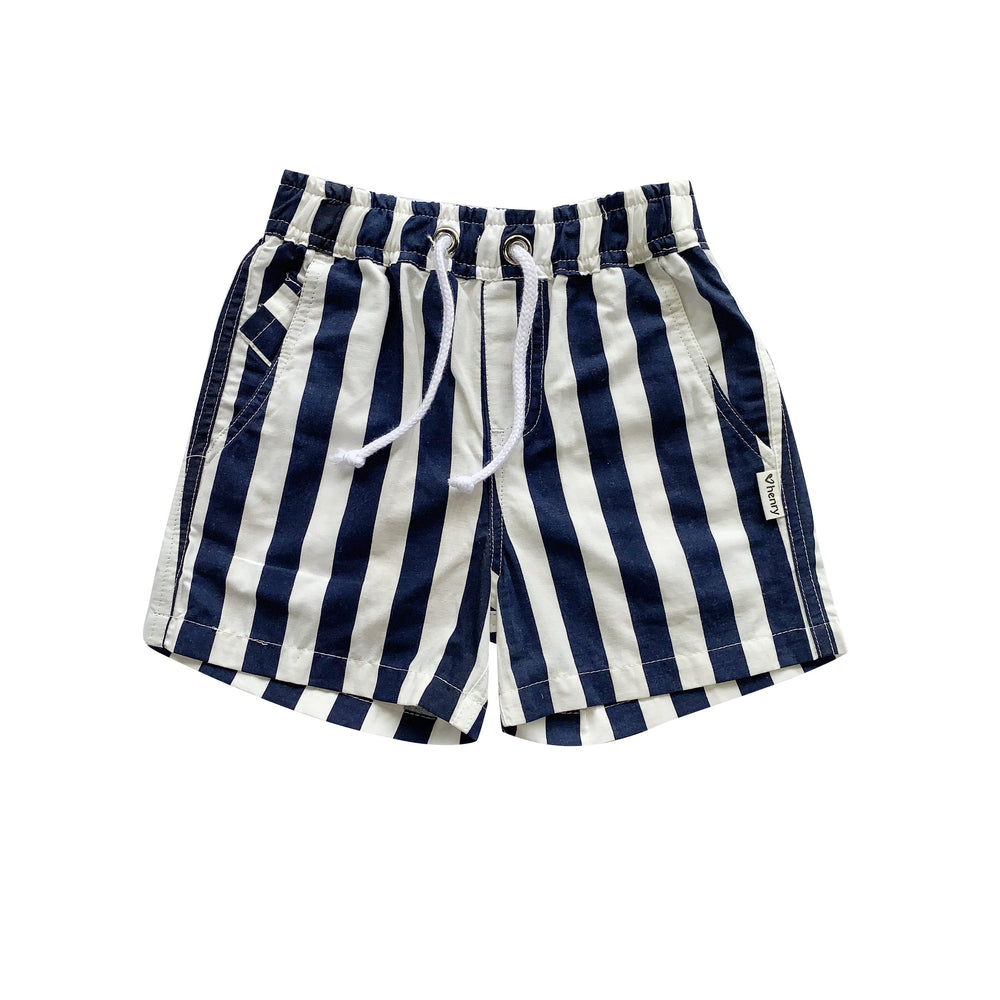 BOYS SONNY SHORT - NAVY STRIPE