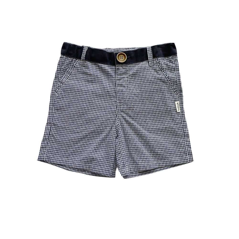 BOYS OSCAR SHORTS - NAVY GINGHAM
