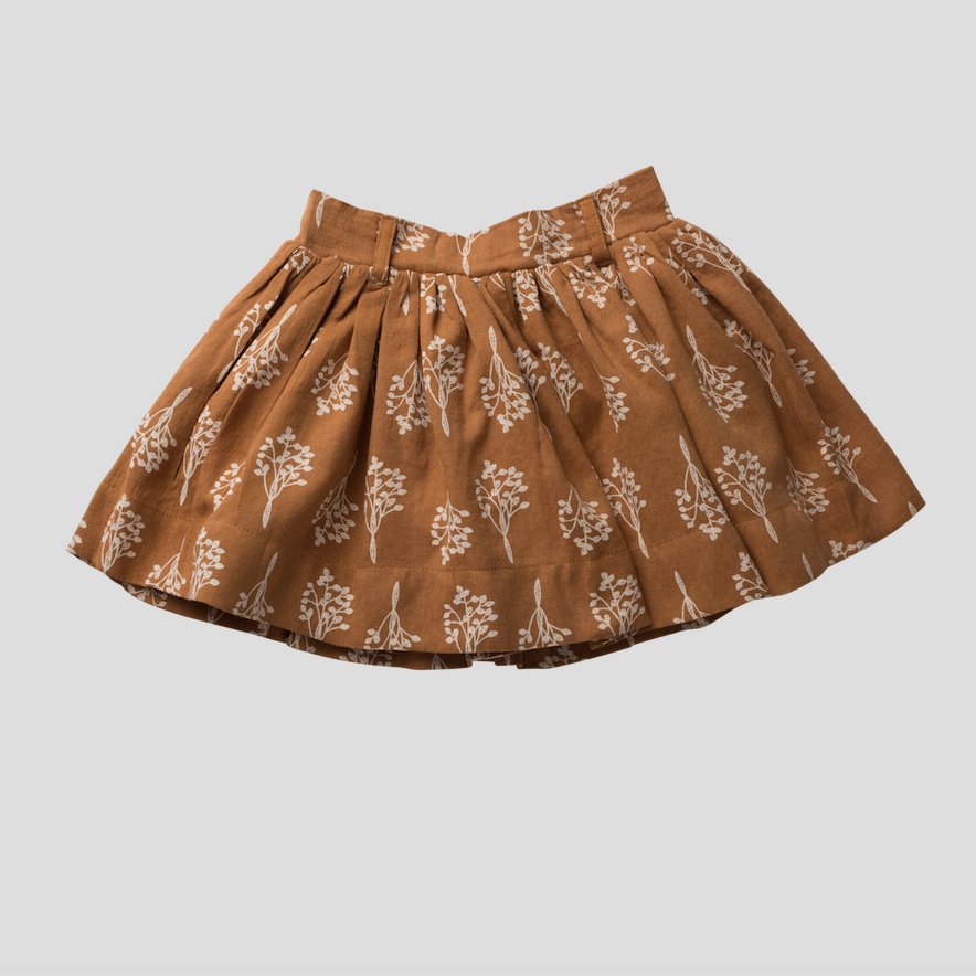 FULL SKIRT - MUSTARD LEAVES