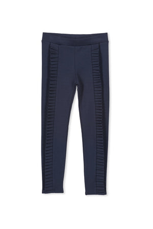 Load image into Gallery viewer, PONTE FRILL PANT - NAVY
