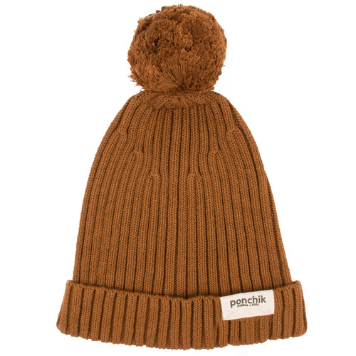 RIBBED BEANIE - MAPLE SYRUP