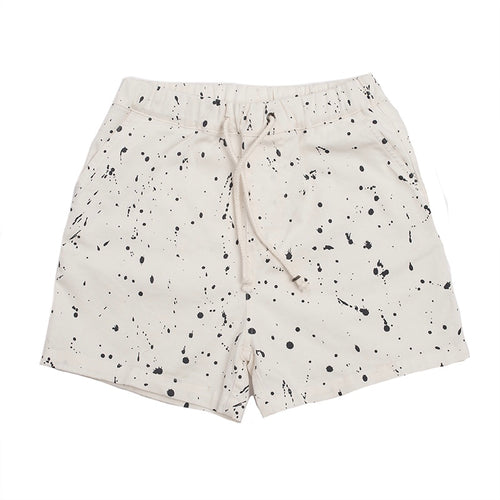 Hootkid - Splat Short - Washed Warm White Twill