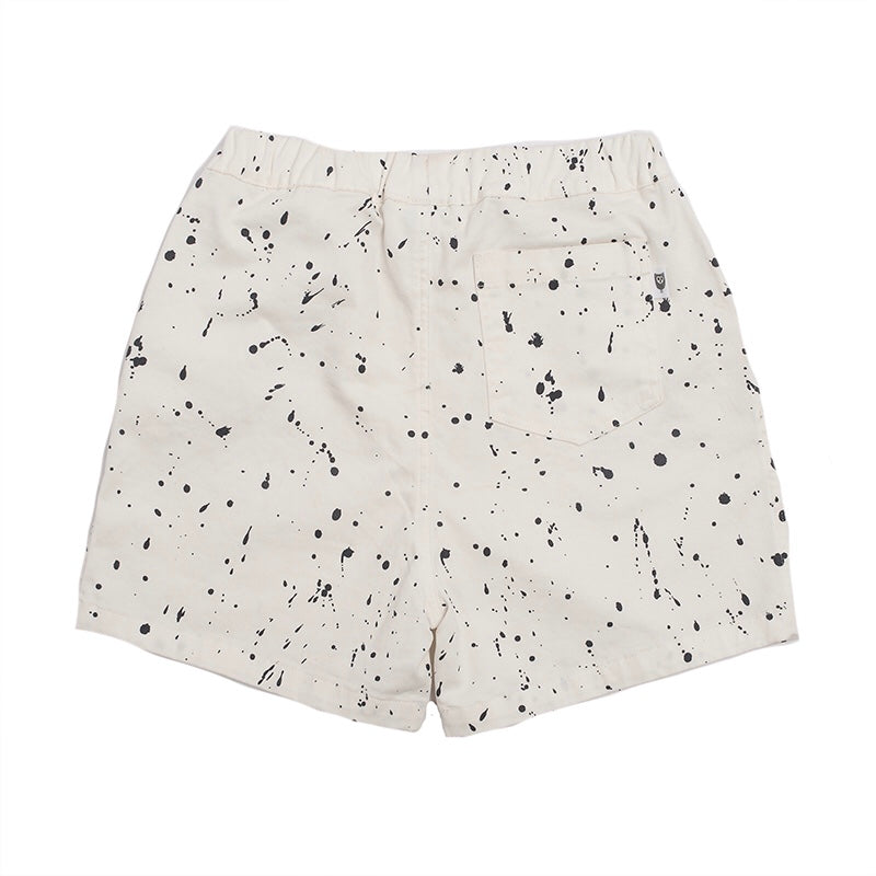 Load image into Gallery viewer, Hootkid - Splat Short - Washed Warm White Twill