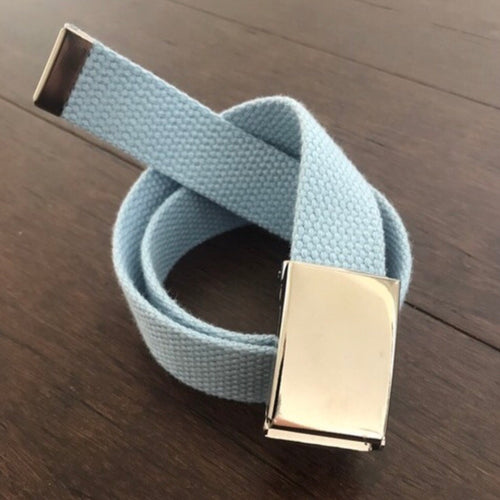 Belle's Belts - Baby Blue Flip Top Buckle Belt