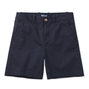 Just Jack - Flat Fronted Drill Shorts - Navy