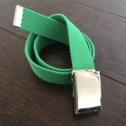 Belle's Belts - Green Flip Top Buckle Belt