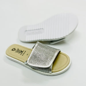 Load image into Gallery viewer, Old Soles - Glam Slides - Glam Argent / Silver