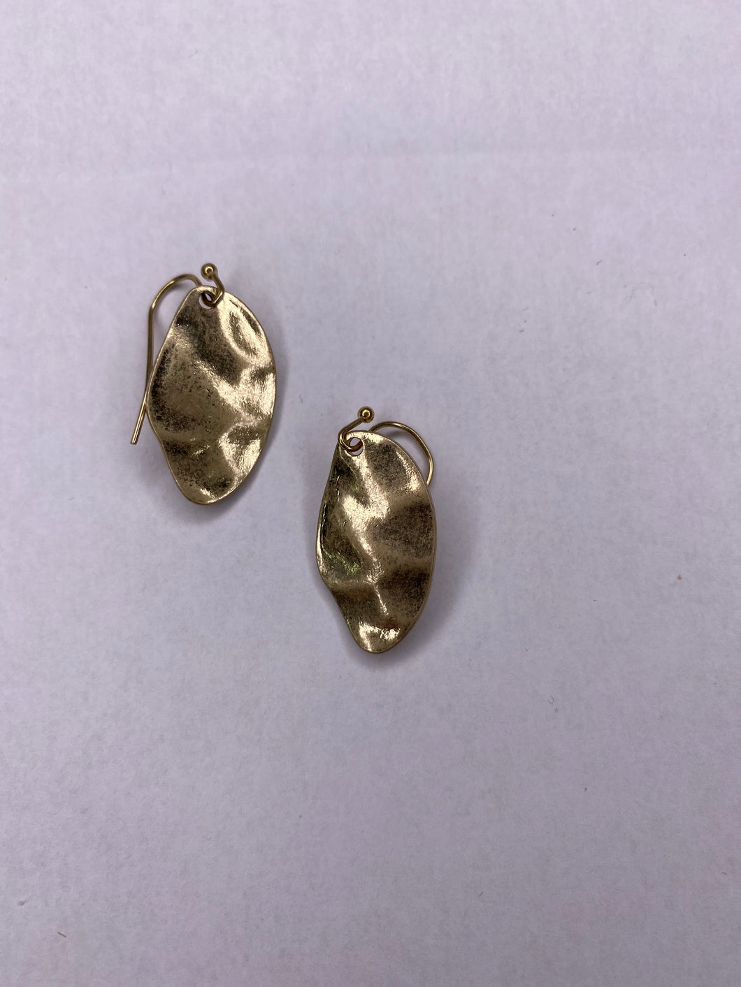 Worn Gold Drop Earring