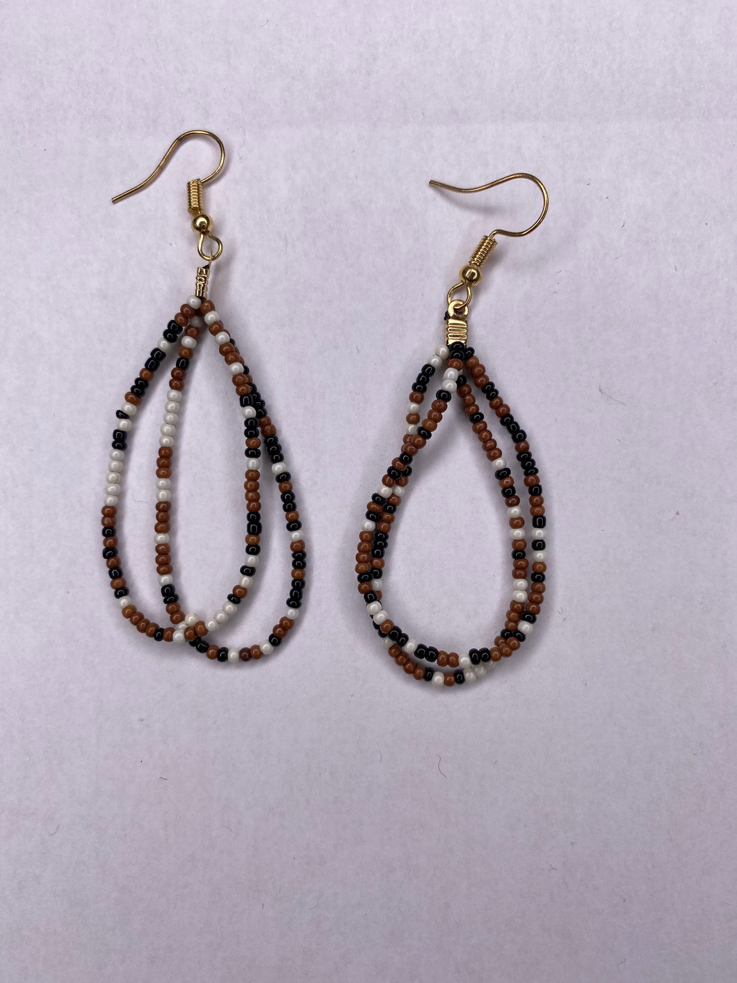 Rust/Black Beaded Earring