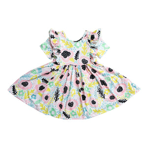 Pastel Posy Short Sleeve Twirl Dress