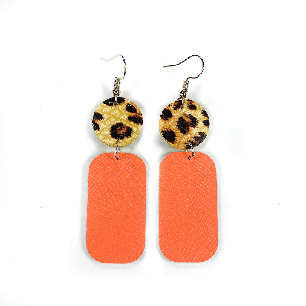 Neon Coral Earring