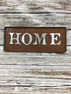 Galvanized Home Sign