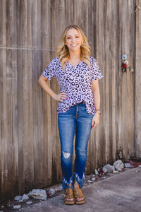 Purple Leopard Top