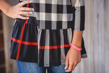 Plaid Ruffle Top