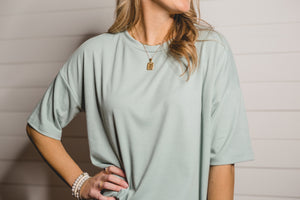 Sage Ribbed Top
