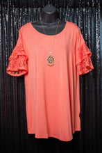 Sandy top- Deep coral