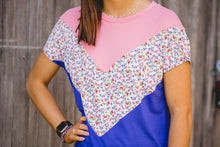 Royal blue color block top
