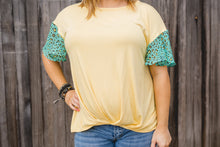 Yellow Haze Knot Top