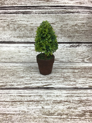 Artificial Cone Mini Boxwood