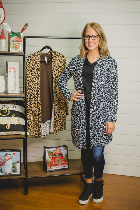 BF Leopard Cardigans