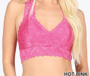 Hot Pink Lace Bralette