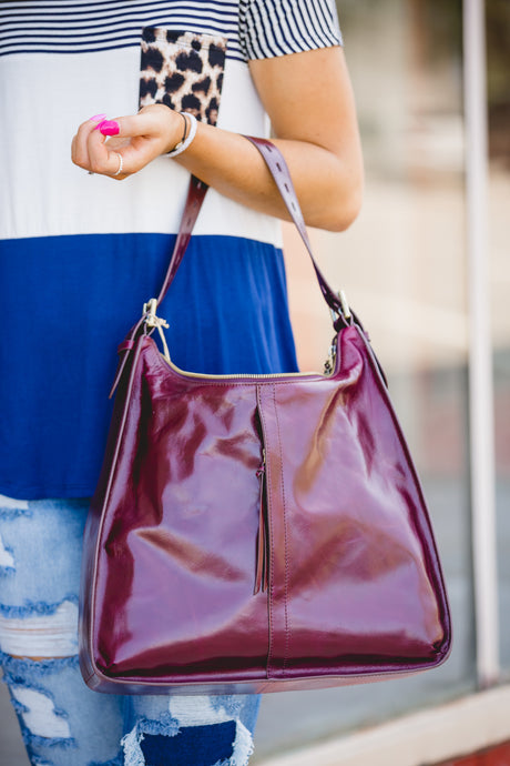 Hobo Deep Plum Purse