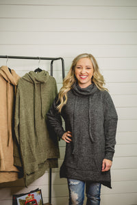 Cowl Sweater-PLUS SIZE