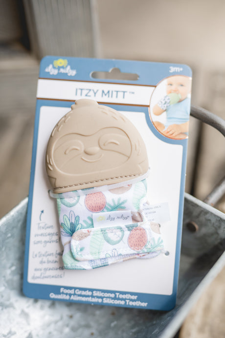 Sloth Itzy Mitt teething mitt