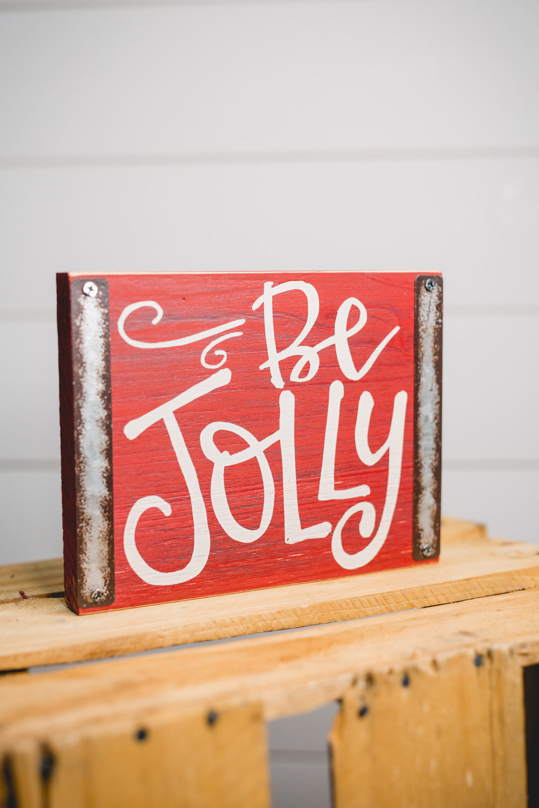 Be Jolly Christmas Block Sign